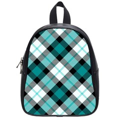 Smart Plaid Teal School Bags (small)  by ImpressiveMoments
