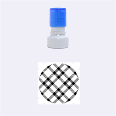 Smart Plaid Teal Rubber Round Stamps (small)