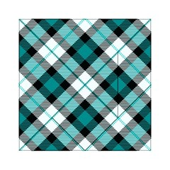 Smart Plaid Teal Acrylic Tangram Puzzle (6  x 6 ) by ImpressiveMoments