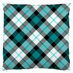Smart Plaid Teal Standard Flano Cushion Cases (two Sides)  by ImpressiveMoments