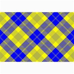 Smart Plaid Blue Yellow Collage 12  X 18