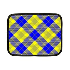 Smart Plaid Blue Yellow Netbook Case (small)  by ImpressiveMoments