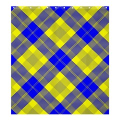 Smart Plaid Blue Yellow Shower Curtain 66  X 72  (large)  by ImpressiveMoments