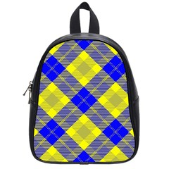 Smart Plaid Blue Yellow School Bags (small)  by ImpressiveMoments