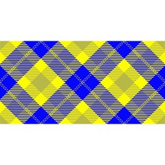Smart Plaid Blue Yellow You Are Invited 3d Greeting Card (8x4)