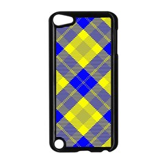 Smart Plaid Blue Yellow Apple Ipod Touch 5 Case (black) by ImpressiveMoments