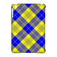 Smart Plaid Blue Yellow Apple Ipad Mini Hardshell Case (compatible With Smart Cover) by ImpressiveMoments