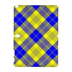 Smart Plaid Blue Yellow Samsung Galaxy Note 10.1 (P600) Hardshell Case by ImpressiveMoments