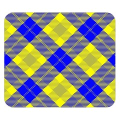 Smart Plaid Blue Yellow Double Sided Flano Blanket (small)  by ImpressiveMoments