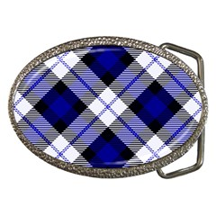 Smart Plaid Blue Belt Buckles