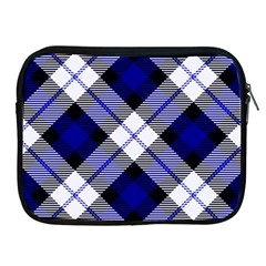 Smart Plaid Blue Apple Ipad 2/3/4 Zipper Cases by ImpressiveMoments