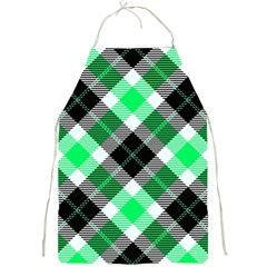 Smart Plaid Green Full Print Aprons