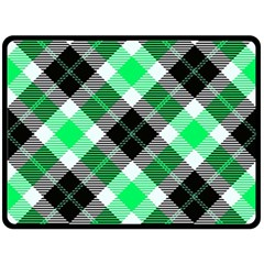 Smart Plaid Green Fleece Blanket (large)  by ImpressiveMoments
