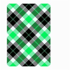 Smart Plaid Green Small Garden Flag (two Sides) by ImpressiveMoments