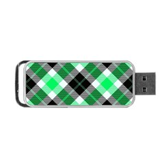 Smart Plaid Green Portable Usb Flash (two Sides) by ImpressiveMoments