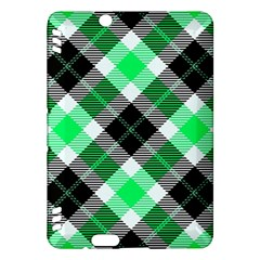 Smart Plaid Green Kindle Fire HDX Hardshell Case by ImpressiveMoments