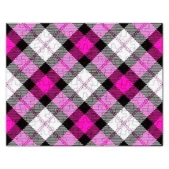Smart Plaid Hot Pink Rectangular Jigsaw Puzzl by ImpressiveMoments