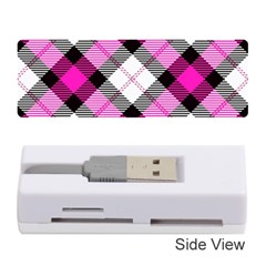 Smart Plaid Hot Pink Memory Card Reader (stick)  by ImpressiveMoments