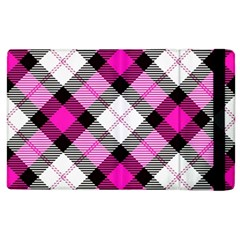Smart Plaid Hot Pink Apple Ipad 2 Flip Case by ImpressiveMoments