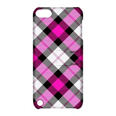 Smart Plaid Hot Pink Apple Ipod Touch 5 Hardshell Case With Stand by ImpressiveMoments