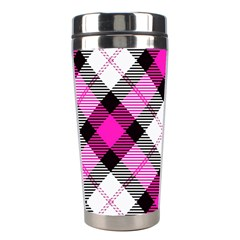 Smart Plaid Hot Pink Stainless Steel Travel Tumblers by ImpressiveMoments
