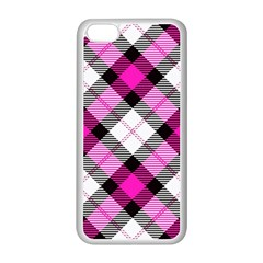 Smart Plaid Hot Pink Apple Iphone 5c Seamless Case (white) by ImpressiveMoments