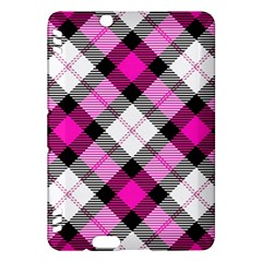 Smart Plaid Hot Pink Kindle Fire HDX Hardshell Case by ImpressiveMoments