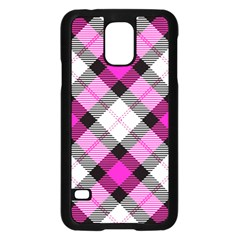 Smart Plaid Hot Pink Samsung Galaxy S5 Case (black) by ImpressiveMoments