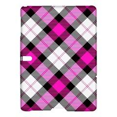 Smart Plaid Hot Pink Samsung Galaxy Tab S (10 5 ) Hardshell Case  by ImpressiveMoments