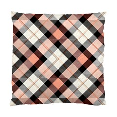 Smart Plaid Peach Standard Cushion Case (One Side)  by ImpressiveMoments