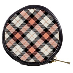 Smart Plaid Peach Mini Makeup Bags by ImpressiveMoments