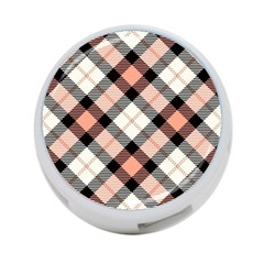 Smart Plaid Peach 4 Port Usb Hub (one Side) by ImpressiveMoments