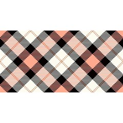 Smart Plaid Peach You Are Invited 3d Greeting Card (8x4)  by ImpressiveMoments