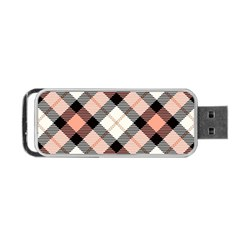 Smart Plaid Peach Portable USB Flash (Two Sides) by ImpressiveMoments