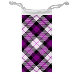 Smart Plaid Purple Jewelry Bags by ImpressiveMoments