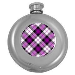 Smart Plaid Purple Round Hip Flask (5 oz) by ImpressiveMoments