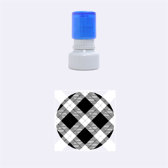 Smart Plaid Purple Rubber Round Stamps (small) by ImpressiveMoments