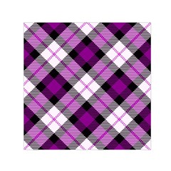 Smart Plaid Purple Small Satin Scarf (square)  by ImpressiveMoments