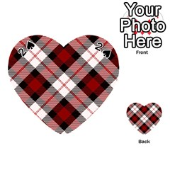 Smart Plaid Red Playing Cards 54 (heart)