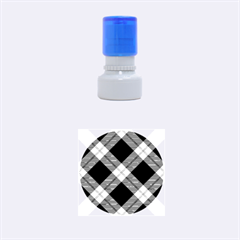 Smart Plaid Red Rubber Round Stamps (small) by ImpressiveMoments