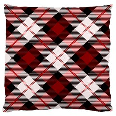 Smart Plaid Red Large Cushion Cases (two Sides)  by ImpressiveMoments