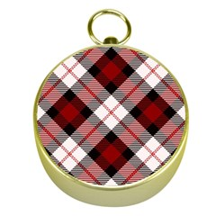Smart Plaid Red Gold Compasses by ImpressiveMoments