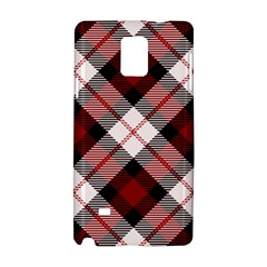 Smart Plaid Red Samsung Galaxy Note 4 Hardshell Case by ImpressiveMoments