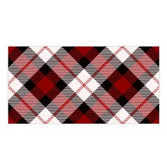 Smart Plaid Red Satin Shawl