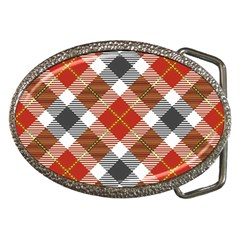 Smart Plaid Warm Colors Belt Buckles by ImpressiveMoments