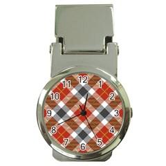 Smart Plaid Warm Colors Money Clip Watches by ImpressiveMoments