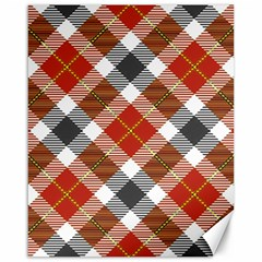 Smart Plaid Warm Colors Canvas 16  X 20   by ImpressiveMoments