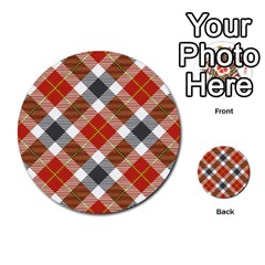 Smart Plaid Warm Colors Multi-purpose Cards (Round)  by ImpressiveMoments