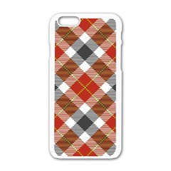 Smart Plaid Warm Colors Apple Iphone 6 White Enamel Case