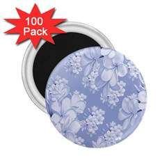 Delicate Floral Pattern,blue  2 25  Magnets (100 Pack)  by MoreColorsinLife